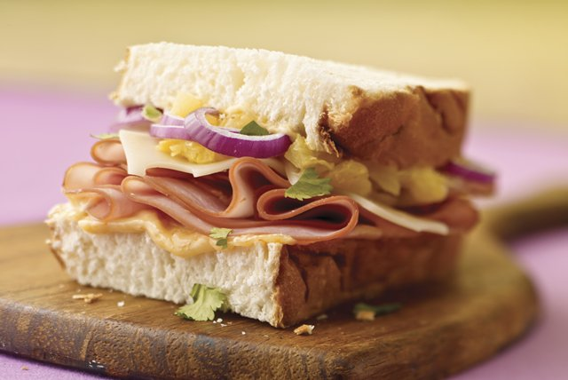 Luau Sandwich with Hawaiian Bread Image 1