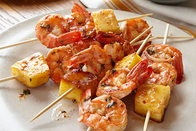 Pineapple-Shrimp Skewers