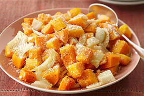 Baked Butternut Squash with Parmesan Cheese