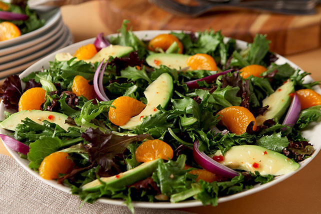 Orange-Avocado Mixed Greens Salad Image 1