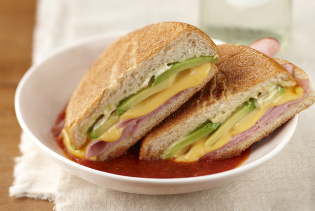 Ham & Cheese Sandwiches with Salsa Image 1