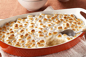 Caramel-Rice Pudding with Marshmallow Topping