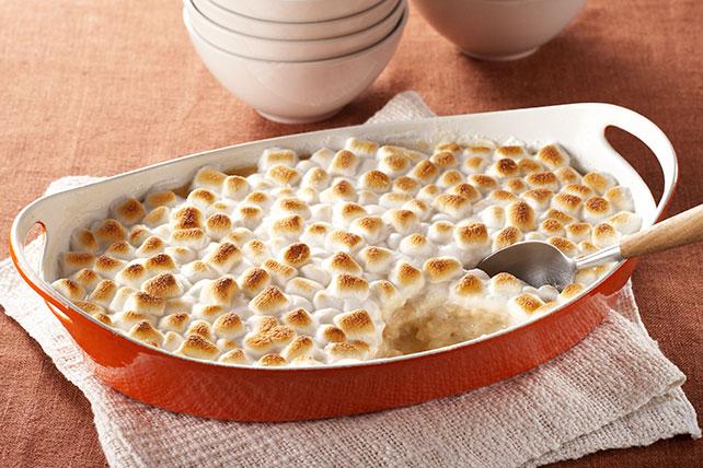 Arroz con leche al caramelo cubierto de malvaviscos Image 1