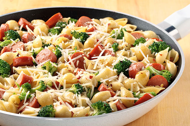 Pasta with Broccoli & Franks Image 1