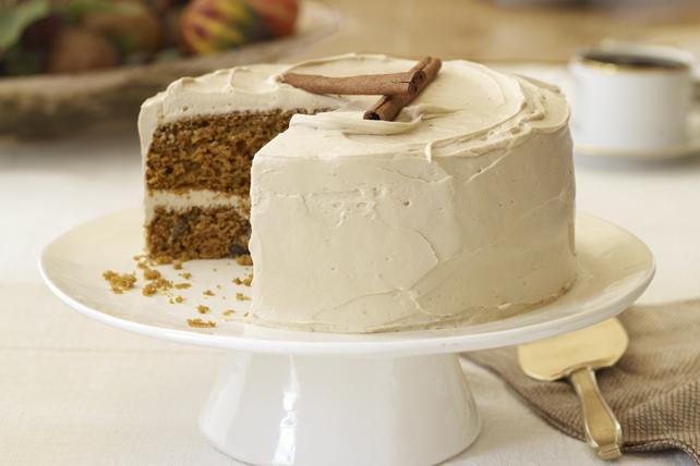 Gâteau à la citrouille et aux carottes avec glaçage à la cassonade Image 1