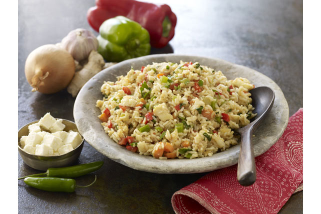 Sesame-Paneer Fried Rice
