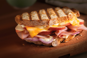 Cheesy Ham & Apple Panini