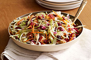 Easy Apple-Cranberry Slaw