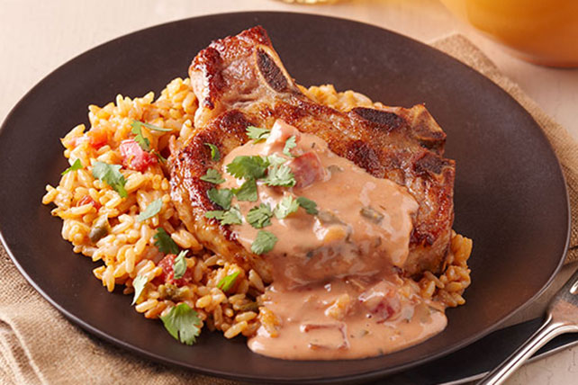 Pork Chops with Mexican Rice Image 1