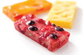 Cremosas barritas de fruta