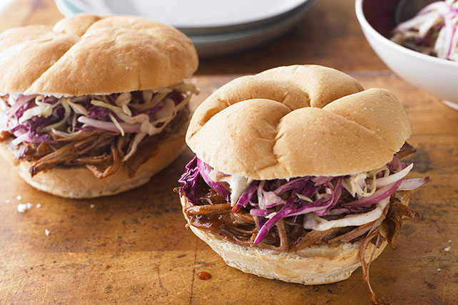 BBQ Beef Brisket Sandwiches with Coleslaw Image 1