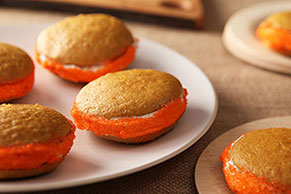 Pumpkin-Spiced Whoopie Pies with Ginger Cream