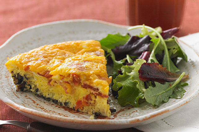 Wild Rice, Bacon & Cheddar Frittata
