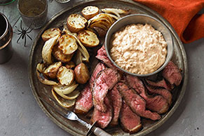Chipotle-Spiced Steak with Roasted Potatoes & Onions