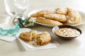 Plantain Empanadas with Chipotle-Peanut Sauce
