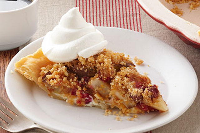 Cranberry-Pear Crumble Pie Image 1
