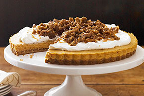 Caramel-Pumpkin Mousse Tart with Pecan Crumble