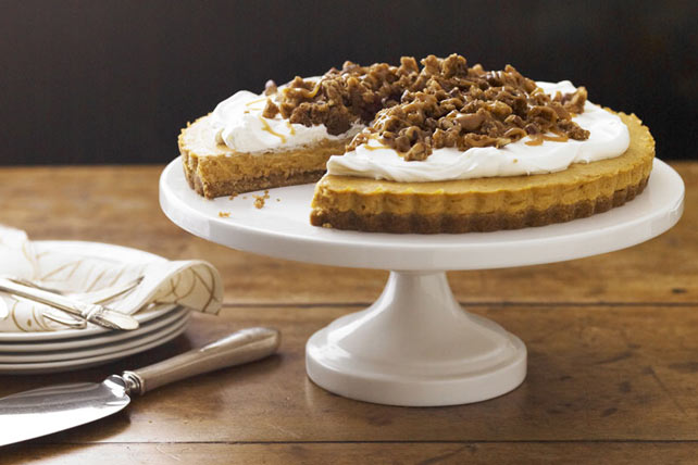 Caramel-Pumpkin Mousse Tart with Pecan Crumble Image 1