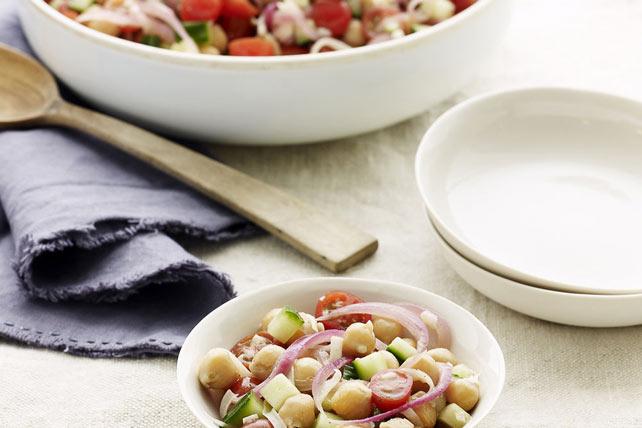 Warm Chickpea, Tomato & Cucumber Salad Image 1