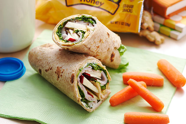 Turkey, Cheese & Apple Wrap Sandwich Image 1