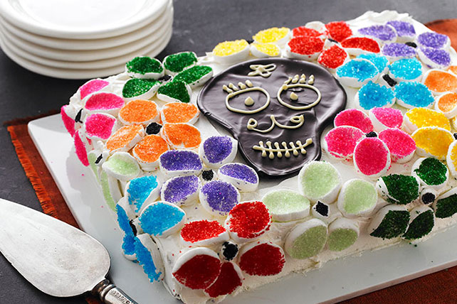 Flowery Day of the Dead Cake