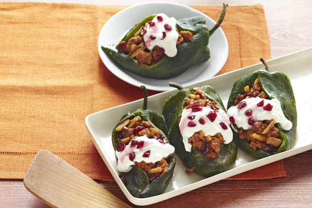 Chiles Rellenos with Cranberry-Almond Picadillo Image 1