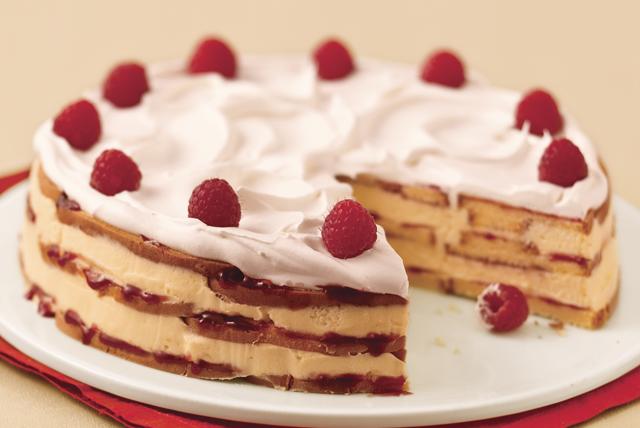 Pastel de chocolate blanco y frambuesas Image 1