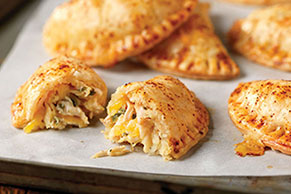 Shredded Chicken Empanada with Cheese