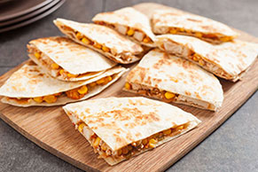 Creamy Chicken & Corn Quesadillas