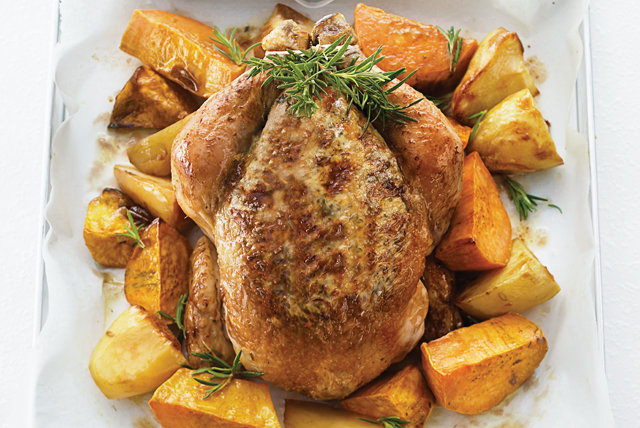 Herb and Cheese Stuffed Roast Chicken Image 1