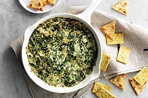 Savory Parmesan Spinach & Artichoke Dip