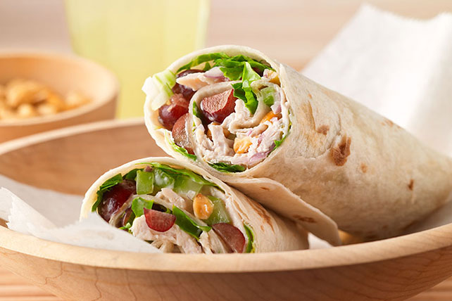 Chicken Salad Wraps with Cracked Pepper Almonds