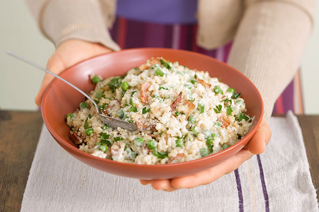 Bacon and Sweet Pea Risotto - Kraft Recipes