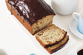 Chocolate-Glazed Banana Bread