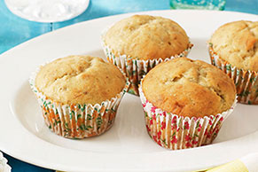 Banana Muffins with Sour Cream