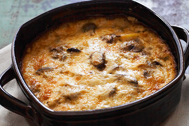 Potato Gratin with Mixed Mushrooms