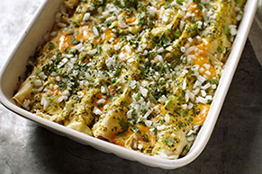 Enchilada Egg Bake with Fresh Salsa Verde