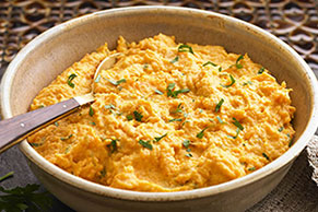 Orange-Bourbon Mashed Sweet Potatoes