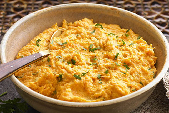 Orange-Bourbon Mashed Sweet Potatoes - Kraft Recipes