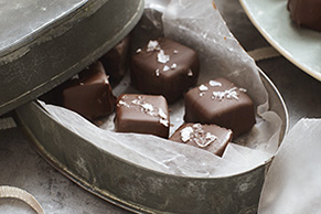 Salted Chocolate-Covered Caramels