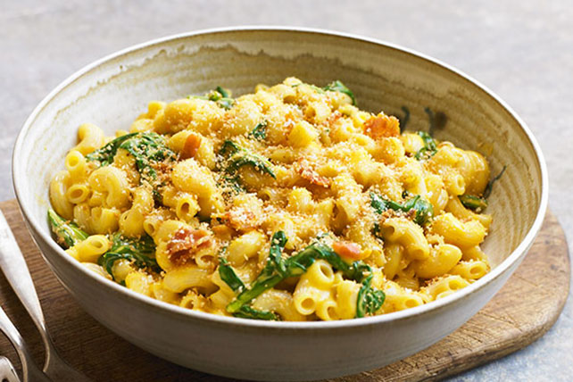 KRAFT Spinach Mac & Cheese with Bacon
