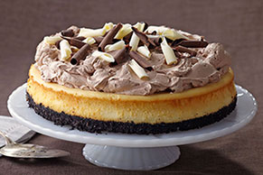 PHILADELPHIA Triple-Chocolate Cheesecake Image 1
