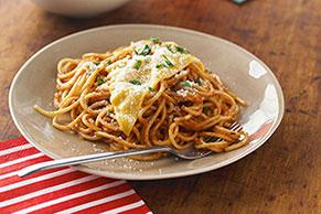 Espagueti sencillo con queso