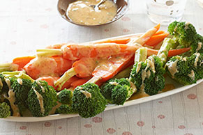 Carrot & Broccoli Spears with VELVEETA Mustard Sauce