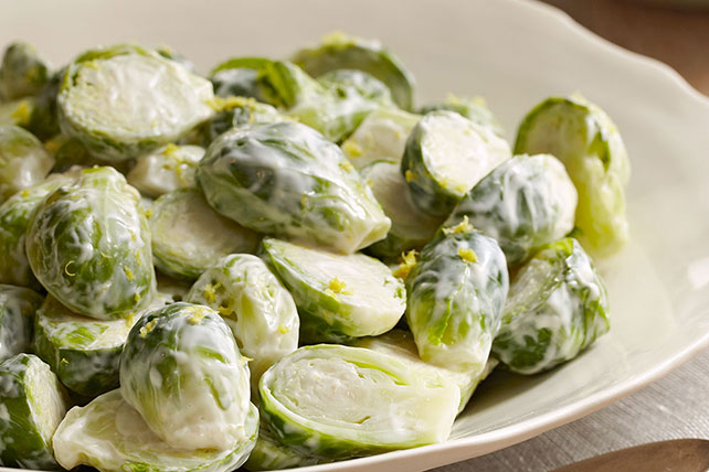 Lemon-Glazed Brussels Sprouts Image 1