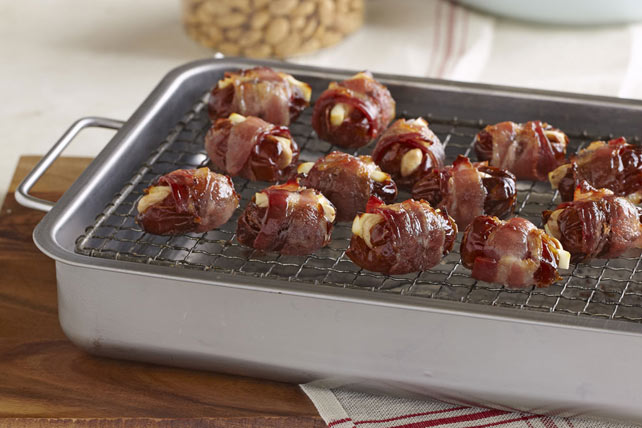 Bacon-Wrapped Feta & Almond-Stuffed Dates Image 1