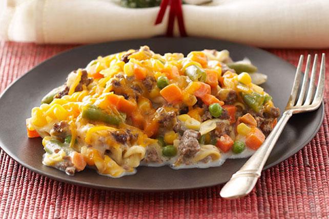 creamy beef & egg noodle bake - kraft recipes