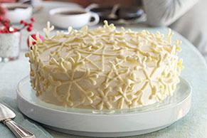 Vanilla Snowflake Cake