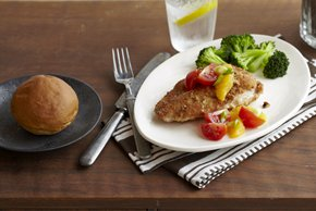 Pecan-Crusted Chicken with Citrus-Tomato Topping