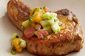 Pork Chops with Citrus-Cucumber Salsa